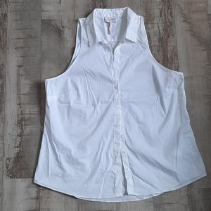 NEW Laundry Shelli Segal White Button Down Vest 10